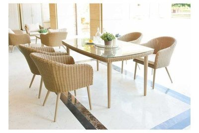 Valencia Rattan 6 Seat Dining Set