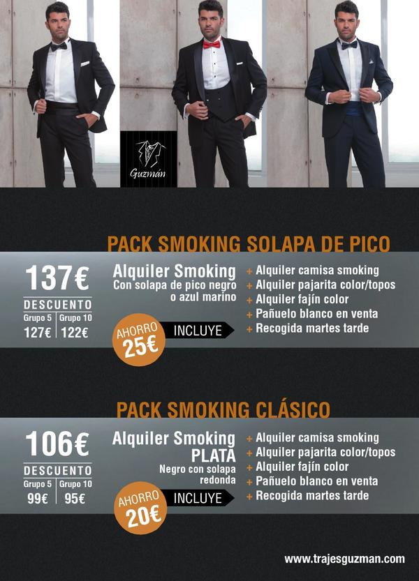 Packs alquiler de smoking 2017